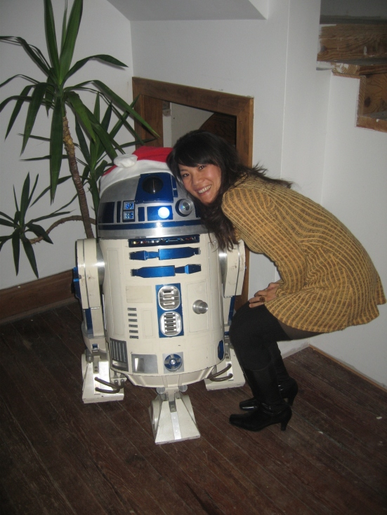 And I got to meet a homemade R2D2 'birthed' by Chris.